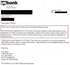success us bank club carlson business credit card reconsideration