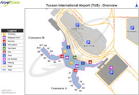 Denver International Airport Map Tucson Tucson International Tus Airport Terminal Map
