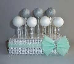 bling faux rhinestone cake pop stand display holder lollipop