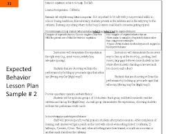expected behavior lesson plan sample expected behavior lesson