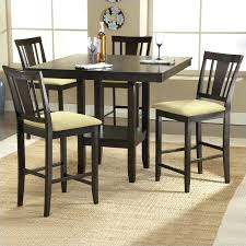 espresso dining room set espresso dining set square counter height casual dining table in