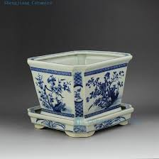 chinese blue and white ceramic planter chinese blue and white