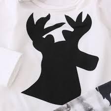 deer print romper wildlife pants hat