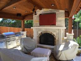 Outdoor Covered Patio by Austin Outdoor Fireplace Austin Decks Pergolas Covered Patios