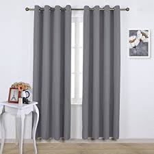 Curtains Ring Top Nicetown Blackout Curtains Panels For Bedroom Three