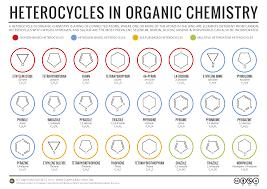 simple heterocycles in organic chemistry infographic chemistry