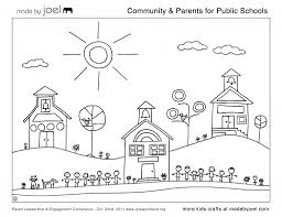 made joel community parents for public schools coloring sheet