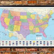 map usa framed hammond united states us usa wall map and mural poster