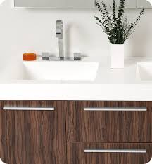 Fresca Bathroom Vanities Fresca Opulento Walnut Modern Double Sink Bathroom Vanity W
