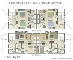 3 bedroom duplex plans residential homes and public designs twin