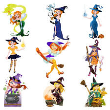 halloween witch decorations in vector images free download