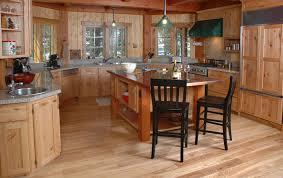 interior wooden types of kitchen flooring with grey granite