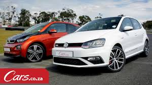 polo volkswagen 2015 video drag race between bmw i3 and vw polo gti
