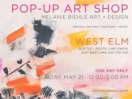 West Elm Wallpaper by Pop Up Art Shop At West Elm Melanie Biehle Art And Design