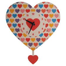 Modern Coo Coo Clock Heart Pendulum Clock