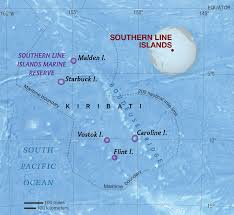Map Of Pacific Islands Southern Line Islands National Geographic Society