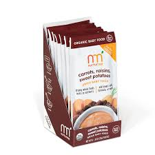 nurturme nurturmeals dried organic food pouches carrots raisins