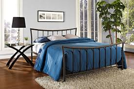 Metal Bedroom Furniture Amazon Com Dhp Bali Metal Bed Kitchen U0026 Dining