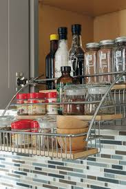 kitchen cabinet storage solutions lowes at lowes cabinet interiors pull spice rack