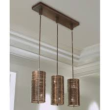 3 Light Pendant Global Views Products Coil 3 Light Pendant Bronze Finish