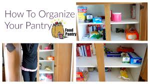 how to organize your food pantry none ocd way youtube