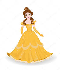 beautiful princess yellow dress u2014 stock vector sandylevtov