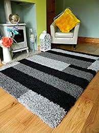 grey black silver new modern thick shaggy rugs large small runners