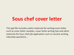 awesome collection of sous chef cover letter sample on download