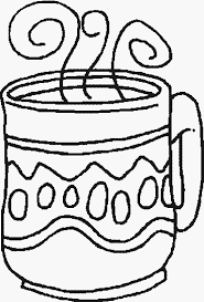 coffee free printable winter coloring pages