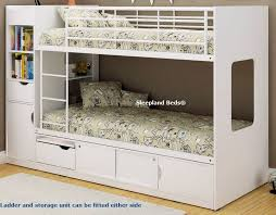 Bunk Bed With Storage White Wooden Storage Bunk Beds Platinum By Sleepland Beds