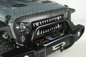 monster jeep jk spartan grille insert monster teeth 07 15 jeep wrangler jk