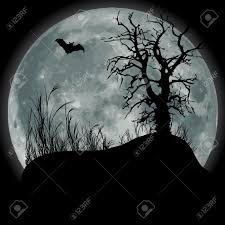 black and white halloween background silhouette eerie stock illustrations cliparts and royalty free eerie vectors