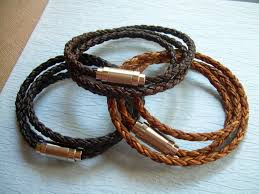 mens jewelry leather bracelet images Premium triple wrap braided leather bracelet mens bracelets jpg