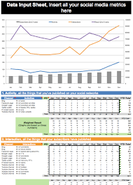weekly social media report template your free social media metrics dashboard