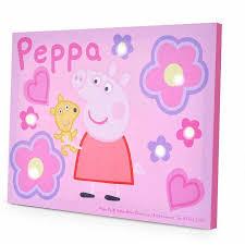 peppa pig light up canvas wall with bonus led lights walmart