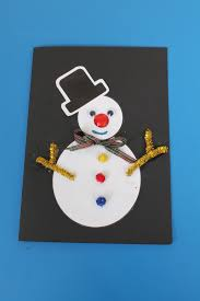 christmas card craft idea for children early years resources blog
