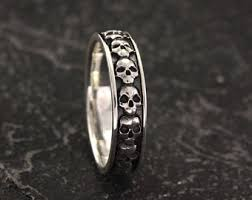 skull wedding rings skull wedding ring etsy