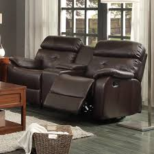 Black Leather Reclining Loveseat Furniture Excellent Reclining Loveseat With Center Console For