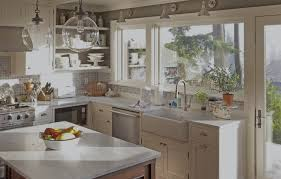 windows traditional kitchen design with oak kitchen cabinets and