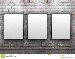 brick display art gallery with frames stock image image 12256961