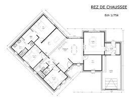 plan de maison 4 chambres plain pied charming plan maison plein pied 120m2 1 plan maison plain pied