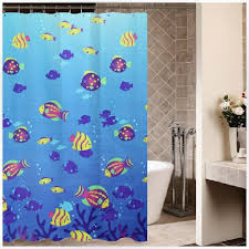 tropical marine fish shower curtains blue shower curtain for kids