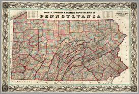 Map Pennsylvania by County Township U0026 Railroad Map Of The State Of Pennsylvania