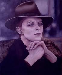 "Sarah Jane Palmer. Bowie Oil on canvas 24"" x 20"" - bowie"
