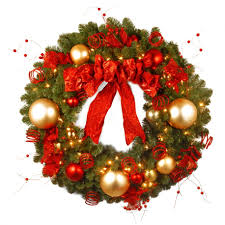 Large Outdoor Lighted Christmas Decorations by Large Outdoor Lighted Christmas Wreaths Christmas Lights Decoration