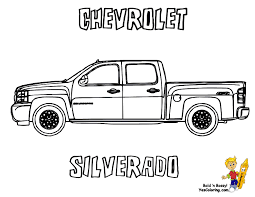 american pickup truck coloring sheet free truck yescoloring