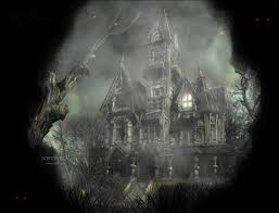 moving halloween wallpapers free animated haunted house wallpaper wallpapersafari