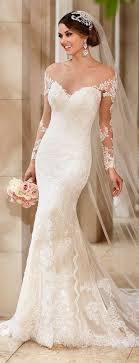 sleeved wedding dresses 45 chic sleeve wedding dresses new deer pearl flowers