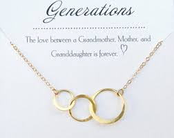 grandmother and granddaughter necklaces grandmother jewelry etsy