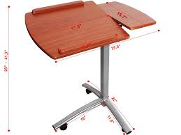 Laptop Desks For Bed by Amazon Com Adjustable Angle Height Rolling Laptop Desk Cart Bed